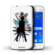 STUFF4 Phone Case / Cover for Samsung Galaxy Ace 4 Lite/G313 / Emotion White Design / Rock Star Pose Collection