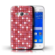STUFF4 Phone Case / Cover for Samsung Galaxy Ace 4 Lite/G313 / Red Design / Bath Tile Pattern Collection