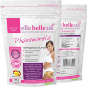 Strong Thermogenic Fat Burners - Elle Belle UK - Phenomenale - New Powerful Weight Loss Formula including African Mango, Green Tea, Acai Berry, Raspberry Ketones and more - Made in the UK - 100% Natural & Additive Free - Suitable For Vegans & Vegetaria ..