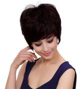 Bigood Short Chestnut brown Fluffy Curly Women Hair Wig Short Lady Full Wig 22cm