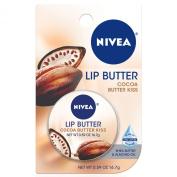 NIVEA Lip Care Butter Carded Tin, Cocoa Butter Kiss, .1740ml,