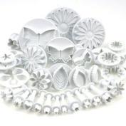 Sonline 10 Sets (33 Pcs) Plunger Cutters Sugar craft Cake Decorating
