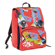 Doubling backpack - SEVEN TAPE - Red - Expandable 28 litres school student