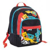 School backpack SEVEN fit - TAPE - Black Red Blue - 28 LT rucksack student bag