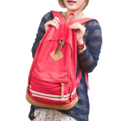 BAO CORE Boys Grils Korean Casual Canvas Shoulder Backpack Bags Retro Travel Daypack Rucksuck Schoolbags for Middle High School Teenage Boy Girls Students 45 X 38 CM-Watermelon Red
