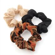 GIZZY® Girls Set of 3 Chiffon Hair Scrunchies