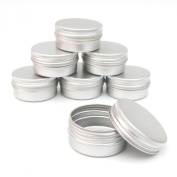 2x ALUMINIUM JAR POT TIN CONTAINER (15ml) For Nail Art MakeUp Cosmetic Travel Creams Lip Balm Tattoos