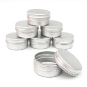 2x ALUMINIUM JAR POT TIN CONTAINER (15ml) For Nail Art MakeUp Cosmetic Travel Creams Lip Balm Tattoos