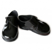 Baby boys black patent shoes - size 3