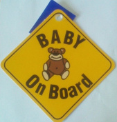 Baby On Board Teddy Bear Window Sucker Sign