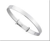 925 Sterling Silver Plain Christening Gift Baby Bracelet