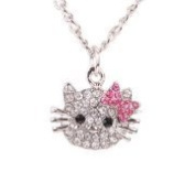 Rumy's Boutique hello kitty rhinestone Necklace a perfect gift
