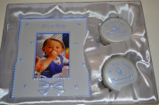 BABY GIFT SET -PHOTO FRAME WITH FIRST CURL AND FIRST TOOTH BOXES