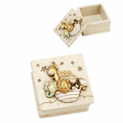 BABY NOAHS ARK RESIN TRINKET BOX 4X8X8CMS CG929