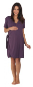 The Bamboo Birthing Wrap - Dark Plum - Large (Pre-preg UK 14/16) For Pregnancy, Labour & Breastfeeding