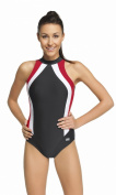 Women's ladies swimming costume one piece swimsuit swimwear flat seams