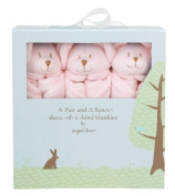 Angel Dear Pair and a Spare 3 Piece Blanket Set, Pink Mouse Colour