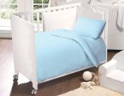 Love2Sleep 100% EGYPTIAN COTTON COT BED DUVET COVER 120 X 150 CM & PILLOWCASE SET : SKY BLUE