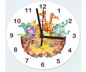 Horloge Nursery, Horloge Arche de Noé, l'horloge filles.