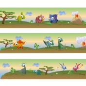 "Wandkings border ""Colourful Dinosaurs"" Length"