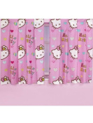Character World 140cm Hello Kitty Folk Curtains, Multi-Colour
