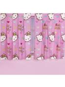 Character World 140cm Hello Kitty Folk Curtains, Multi-Colour