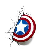 Marvel Comics 3D Captain America Shield Wall Light