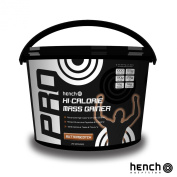 4KG HENCH NUTRITION PRO HI-CALORIE MASS GAINER / WEIGHT GAIN WHEY PROTEIN POWDER - BUTTERSCOTCH