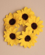 Large fabric yellow sunflower bun garland / ponio / hairband / scrunchie