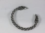 Odin's Raven Viking Solid Pewter Bracelet, Norse, Celtic