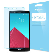LG G4 Screen Protector, Spigen® [Full HD] LG G4 Screen Protector Clear **NEW** [Crystal] [CR] JAPANESE BASE PET FILM High Definition (HD) Premium Ultra Clear Front Screen Protector for LG G4 (2015) - CR
