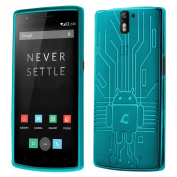 Cruzerlite Bugdroid Circuit TPU Case for OnePlus One - Teal