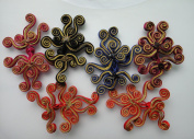Lots 6pair Exquisite Butterfly Swirl Twirl Handmade Sewing Fasteners Chinese Closure Knot Cheongsam Frog Buttons 10cm 3.9 Inches