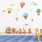 DM-1406, Animal Train and Hot Air Balloons Wall Stickers
