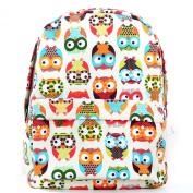 WebcajkColorful OWL printing backpack travel bags girl cartoon bag shoulder bags