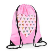 Girls Swim Bag, Pink Gym Bag, Girls PE bag, Sugar Hearts Bag