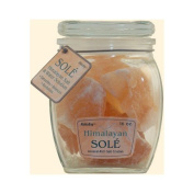 New - Himalayan Salt Sole Salt Chunks in Jar - 470ml