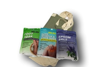 Epsom Salt Variety Pack with Carrying Bag Soothe Sore Feet and Muscles