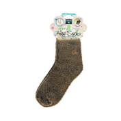 New - Earth Therapeutics Socks Infused Socks- Brown - Pair