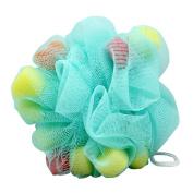 Kinepin Heart Shape Sponge Shower Scrubber Bathing Mesh Blue Colour
