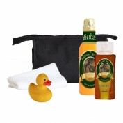 BRUBAKER Beer Bath Set Giftset Showergel, Bath Foam, Sponge Bag, Towel and Rubberduck