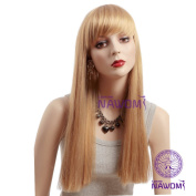 Kolight® Fashion Exquisiteness Elegant Long Blonde Colour Straight Bang Hair Extensions Wig Free Cap+ Comb