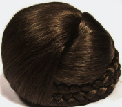 BLISS Dome Wiglet Chignon Bun Hairpiece by Mona Lisa - 10 Medium Brown