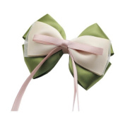 Pure Manual Light Green Sweet Hair Clips Ribbon Barrettes Women