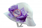 Lil Sister Bucket Sun Hat with Chinstrap and Bow By Funny Girl Designs
