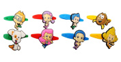 8 pcs Bubble Guppies # 3 Colourful Releasable Ponytail Holder Elastic Rubber Stretchable No-slip Hair Tie