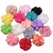 SEEKO 16PCS DIY Fold Chiffon Flower Hair Band Children Headwear Accessories TFA178