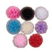SEEKO 8PCS Lace Flower Head Band TFA170