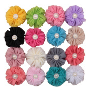 SEEKO 16PCS Retro Pearl Dimond Ballet Flower Hair Band TFA171