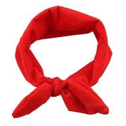 WerFamily Girl Women Yoga Elastic Rabbit Bow Headband Elastic Hair Band Hairband Turban